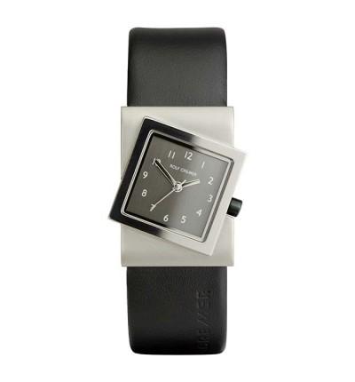 Rolf Cremer Damenuhr Turn 491819 mit polierter Lünette, schwarzer Uhrkrone  und kleinen Ziffern
