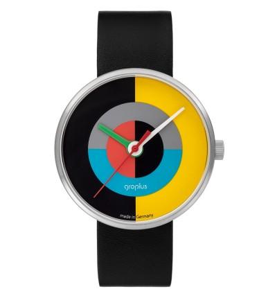 Walter Gropius Unisex Uhr, Kollektion J. Albers, Modell WG005-01, Frontansicht