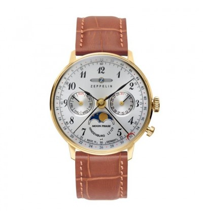 "Zeppelin Damen-Armbanduhr ""LZ 129 Hindenburg Mondphase"" Analog Quarz 7039-1"
