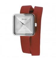 Ersatzarmband M&M Damenuhr Mini Square M11951-642L, rot